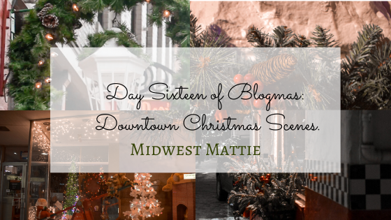 Day Sixteen of Blogmas: Downtown Christmas Scenes.