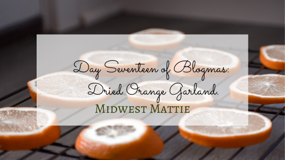 Day Seventeen of Blogmas: Dried Orange Garland.